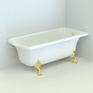 Olivia Angolare. Vasca da bagno, due zampe «Leone» (Standard)